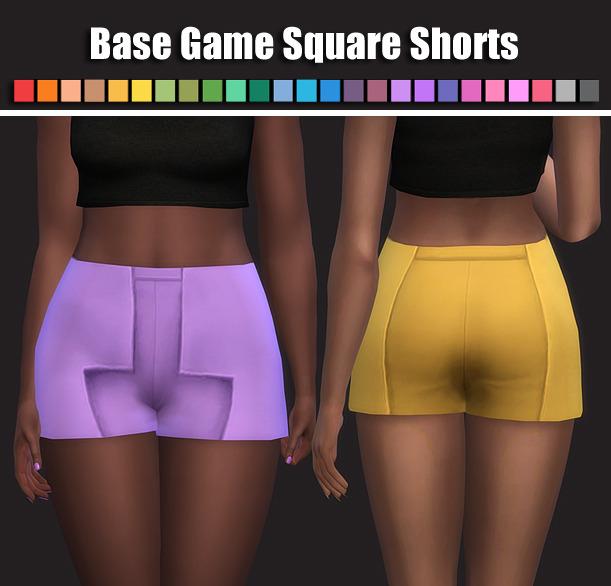 Sims 4 Base Game Square Shorts at Maimouth Sims4