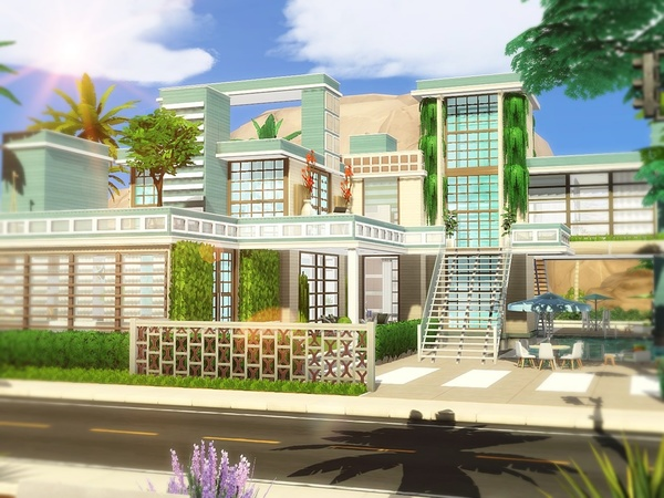 Exclusive Modern Oasis by MychQQQ at TSR image 1113 Sims 4 Updates