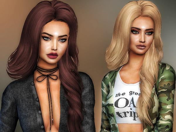 Sims 4 Skysims 210 hair retexture by Sharareh at TSR