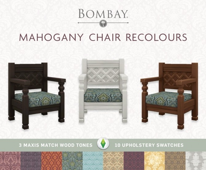 Sims 4 Mahogany Chair Recolours at SimPlistic