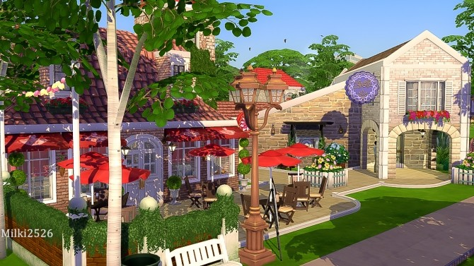 Meeting point lot at Milki2526 image 1124 670x377 Sims 4 Updates