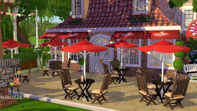 Meeting point lot at Milki2526 image 1143 670x377 Sims 4 Updates