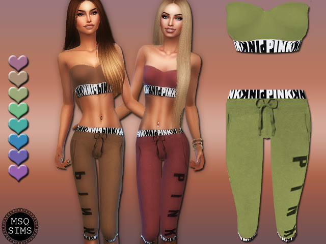 Sims 4 Sporty Outfit at MSQ Sims