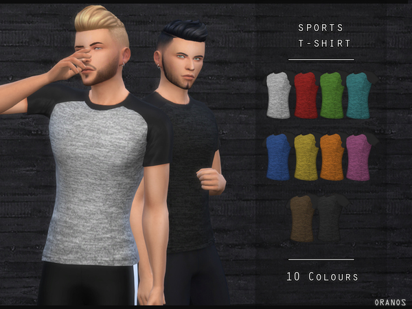 Sims 4 Sports T Shirt by OranosTR at TSR