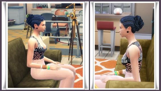 Sims 4 Pull Back Braid Bun at Birksches Sims Blog
