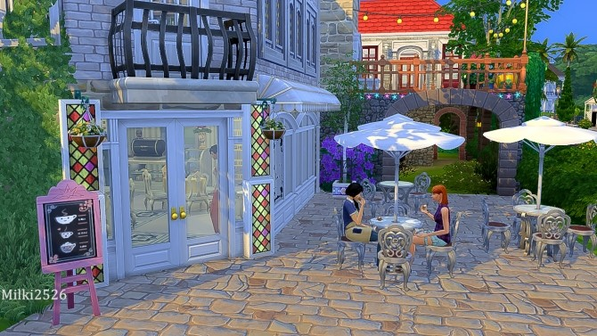 Meeting point lot at Milki2526 image 1172 670x377 Sims 4 Updates
