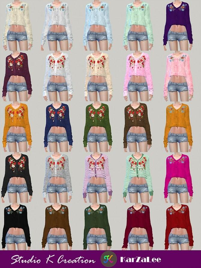 Sims 4 011 emb sweater at Studio K Creation