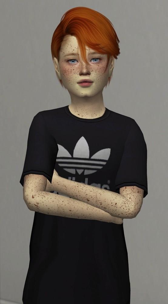 kids  toddler version male hair  thiago mitchell  redheadsims sims  updates