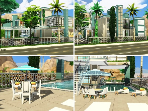 Exclusive Modern Oasis by MychQQQ at TSR image 1212 Sims 4 Updates