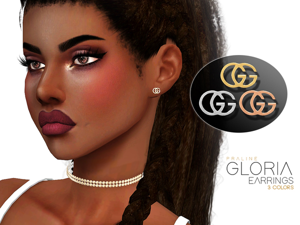 Gloria Earrings by Pralinesims at TSR image 1214 Sims 4 Updates