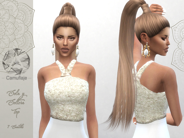 Sola Y Soltera Top by Camuflaje at TSR image 1223 Sims 4 Updates