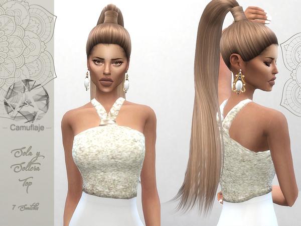 Sims 4 Sola Y Soltera Top by Camuflaje at TSR