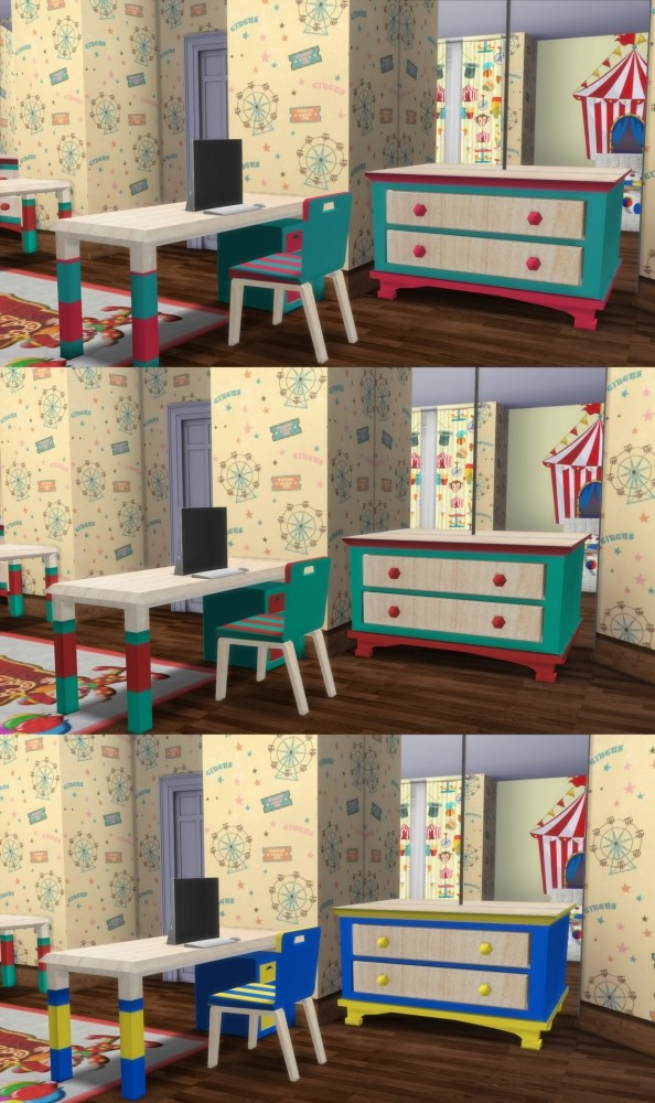 Circus Kids` Room Set at Simming With Mary image 1226 594x1000 Sims 4 Updates