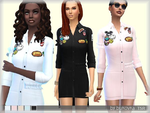 Dress Shirt & Frill by bukovka at TSR image 1229 Sims 4 Updates