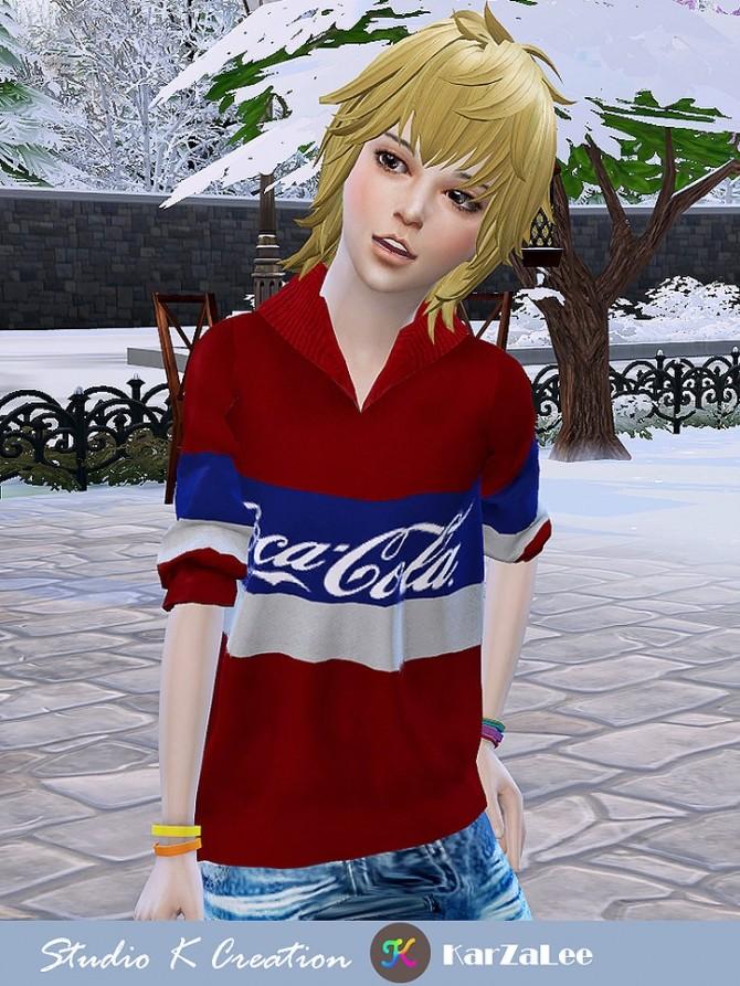 Sims 4 Animate hair 95 Zen child at Studio K Creation