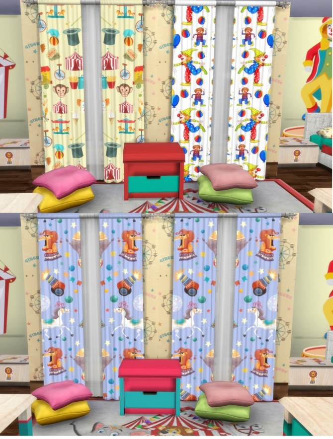 Circus Kids` Room Set at Simming With Mary image 1235 670x884 Sims 4 Updates
