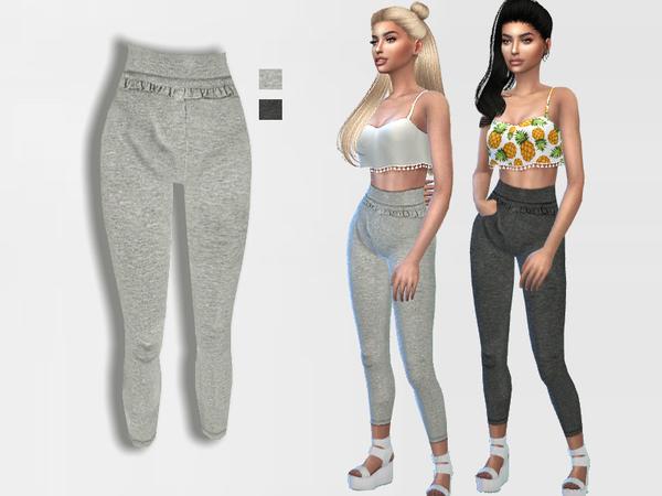 Sims 4 Ruffle Leggings by Puresim at TSR