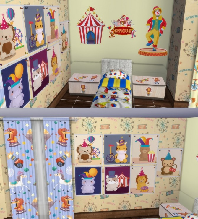 Circus Kids` Room Set at Simming With Mary image 1245 670x741 Sims 4 Updates