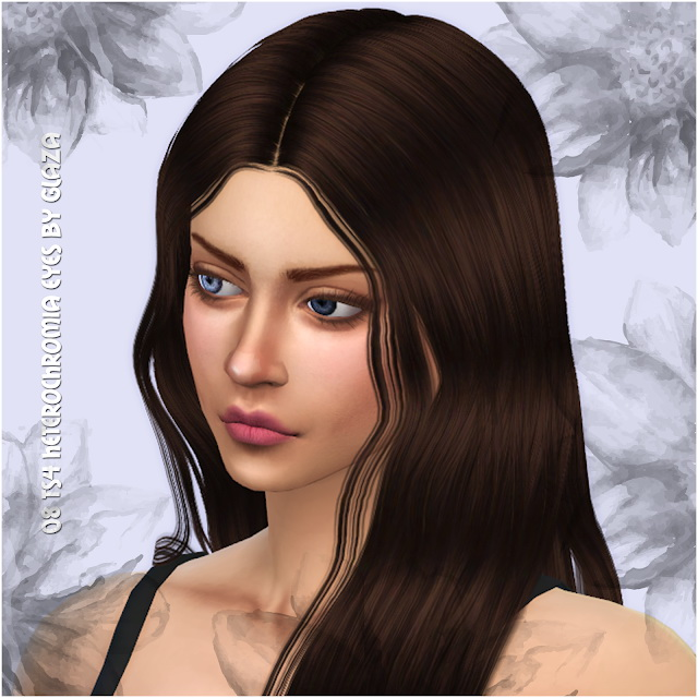Sims 4 08 heterochromia eyes at All by Glaza