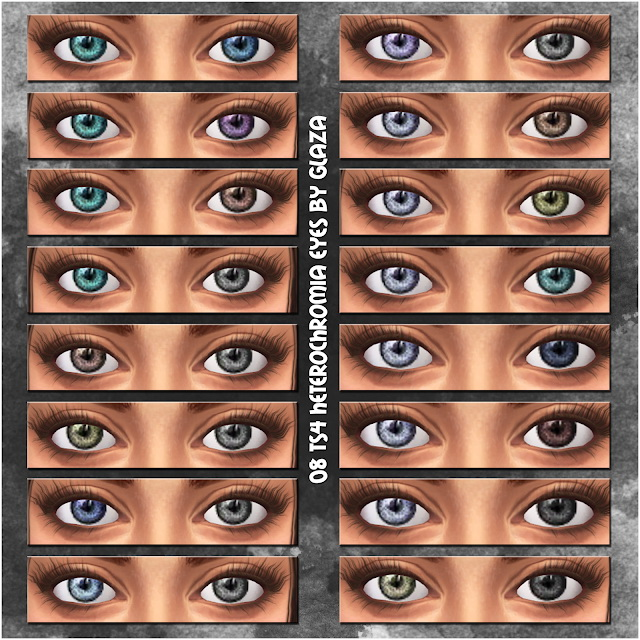 08 heterochromia eyes at All by Glaza image 1266 Sims 4 Updates