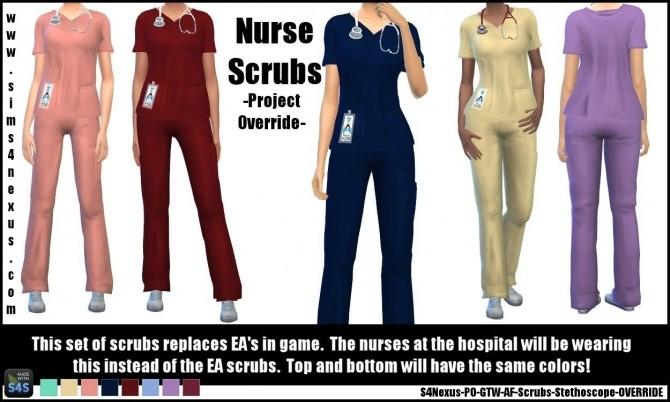 Nurse Scrubs by SamanthaGump at Sims 4 Nexus image 12910 670x402 Sims 4 Updates