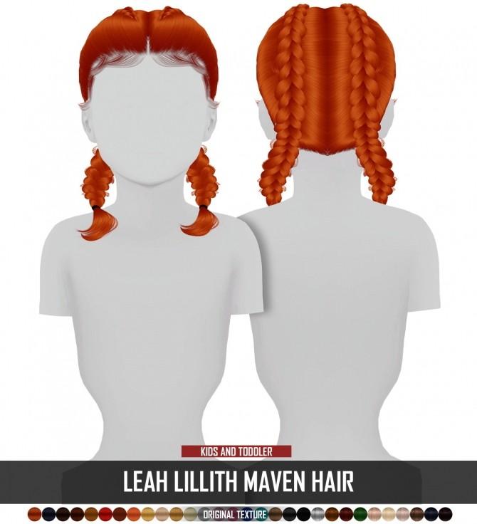 LEAH LILLITH MAVEN HAIR KIDS AND TODDLER VERSION at REDHEADSIMS image 1295 670x736 Sims 4 Updates