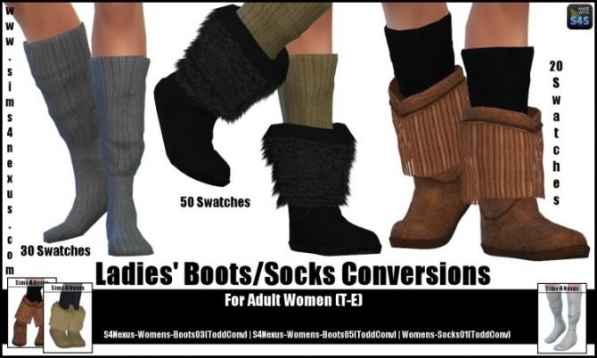 Ladies' Boots/Socks Conversions by SamanthaGump at Sims 4 Nexus image 1302 670x402 Sims 4 Updates
