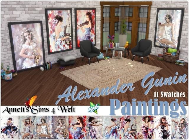 Sims 4 Alexander Gunin Paintings at Annett's Sims 4 Welt