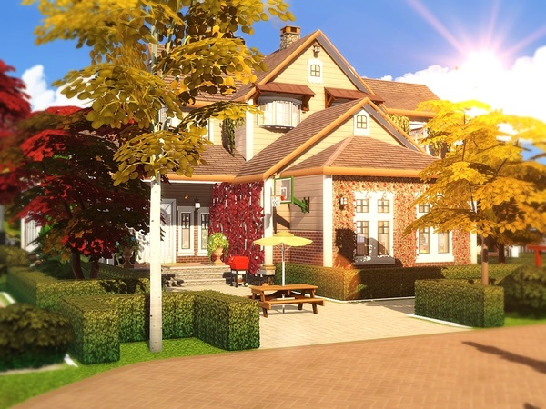 Cozy Autumn Residence by MychQQQ at TSR image 1316 Sims 4 Updates
