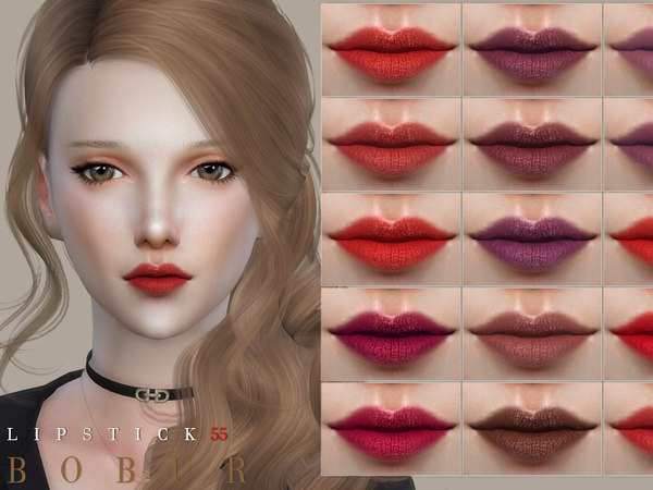 Sims 4 Lipstick 55 by Bobur3 at TSR