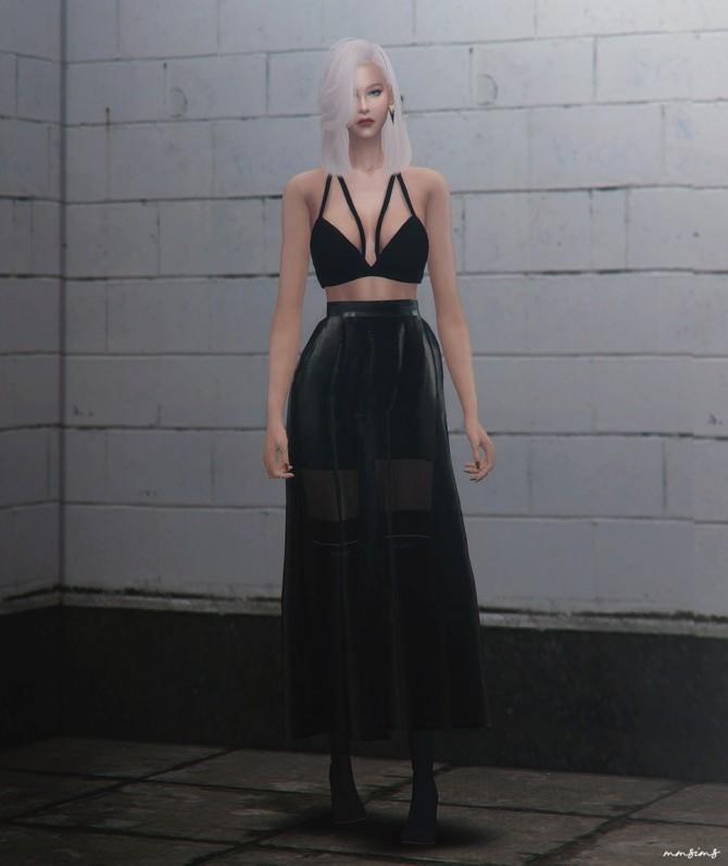 Sims 4 Seoul city lights skirt AF at MMSIMS