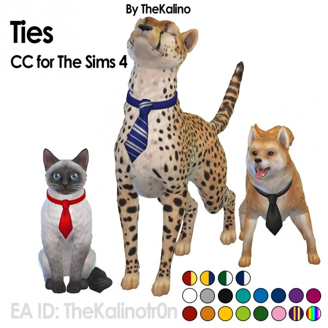 Ties for your pets at Kalino image 1409 670x670 Sims 4 Updates