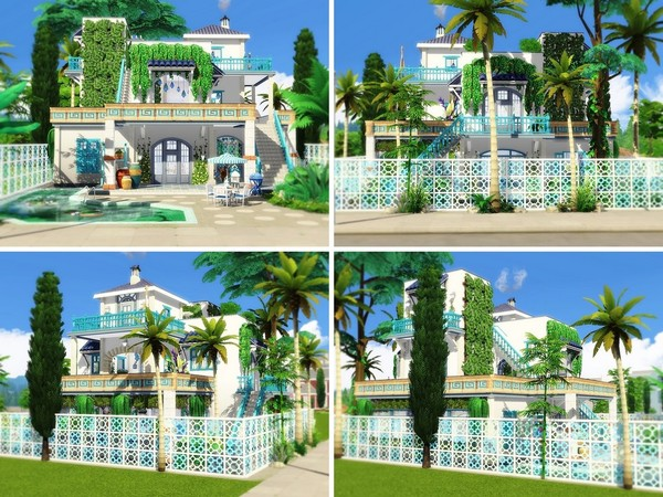 Elegant Greek Mansion by MychQQQ at TSR image 141 Sims 4 Updates