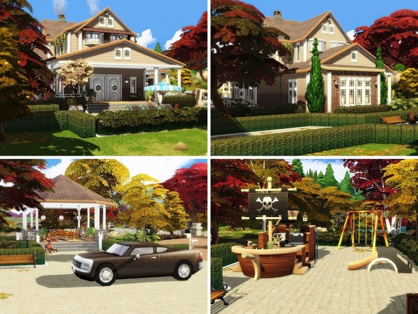 Cozy Autumn Residence by MychQQQ at TSR image 1416 Sims 4 Updates