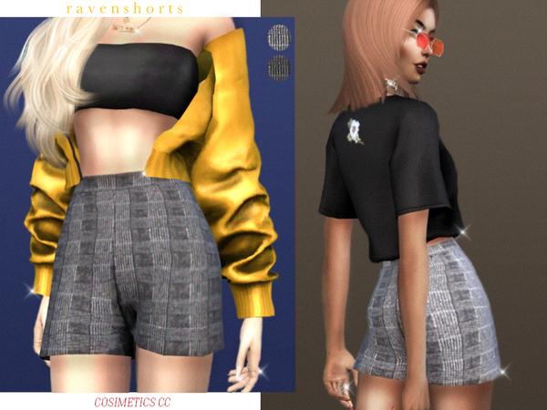 Sims 4 Raven shorts by cosimetics at TSR