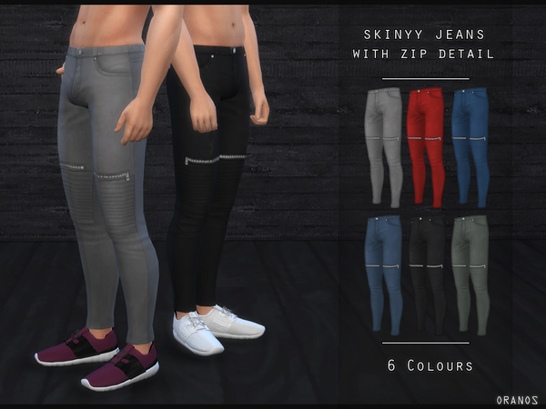 Sims 4 Skinny Jeans With Zip Detail by OranosTR at TSR