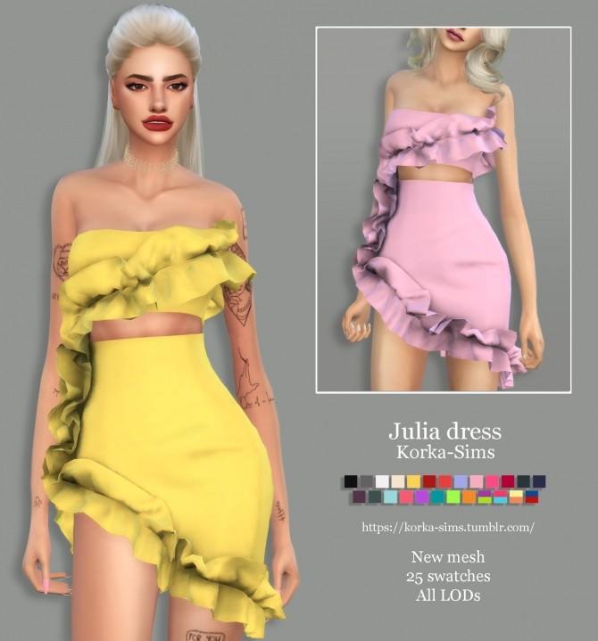 Sims 4 Julia dress at Korka Sims