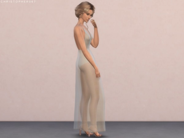 Sims 4 Sweetener Dress by Christopher067 at TSR
