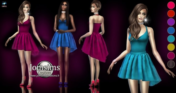 Sims 4 Mabelle short dress at Jomsims Creations