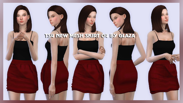 SKIRT 04 at All by Glaza image 149 Sims 4 Updates