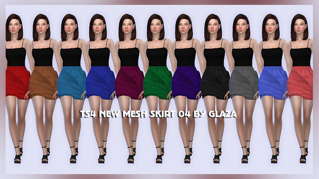SKIRT 04 at All by Glaza image 150 Sims 4 Updates