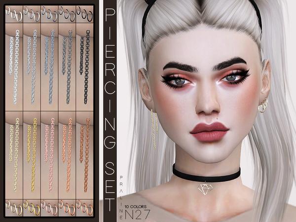 Piercing Set N27 by Pralinesims at TSR image 1514 Sims 4 Updates