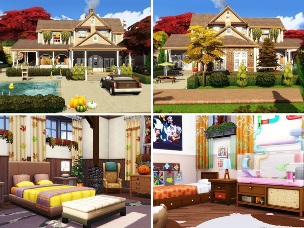 Cozy Autumn Residence by MychQQQ at TSR image 1515 Sims 4 Updates