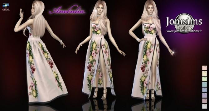 Sims 4 Anebulia dress at Jomsims Creations