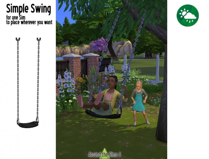 Simple Swing by Sandy at Around the Sims 4 image 156 670x511 Sims 4 Updates