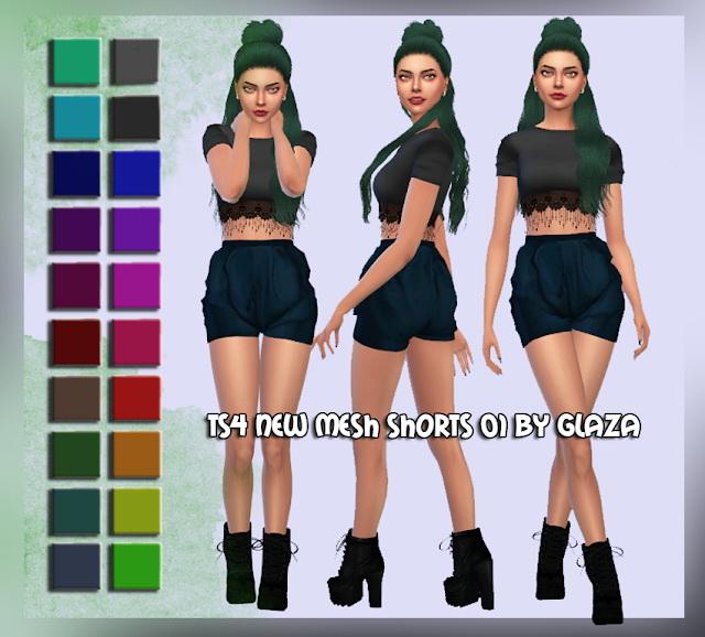 Sims 4 Shorts 01 at All by Glaza