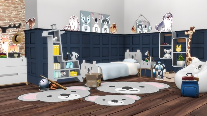 Roarsome Kids Bedroom 30 New items at Simsational Designs image 1581 670x377 Sims 4 Updates