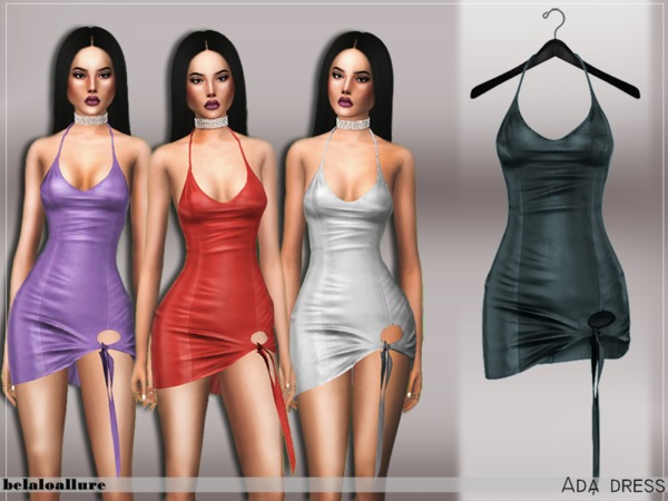 Sims 4 Ada dress by Belaloallure at TSR