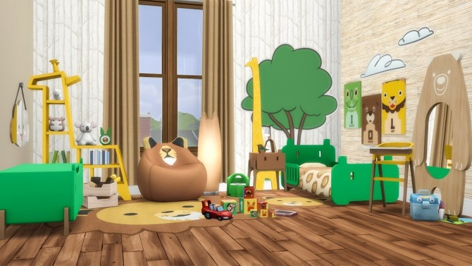 Roarsome Kids Bedroom 30 New items at Simsational Designs image 1591 670x377 Sims 4 Updates