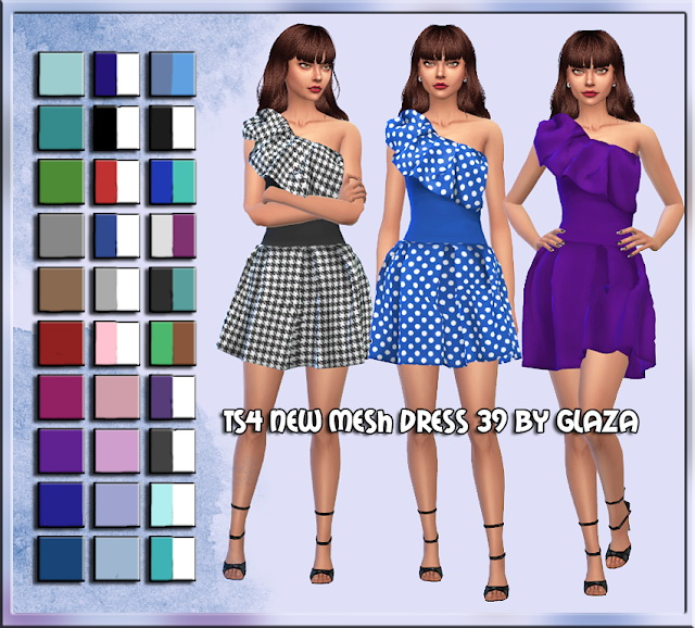 Sims 4 Dress 39 at All by Glaza